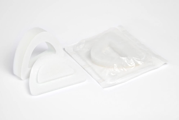 Protective ear bandages made of PUR foam for the ENT sector