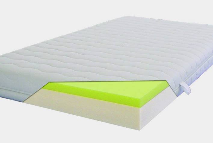 Soft positioning mattresses made of viscoelastic foam