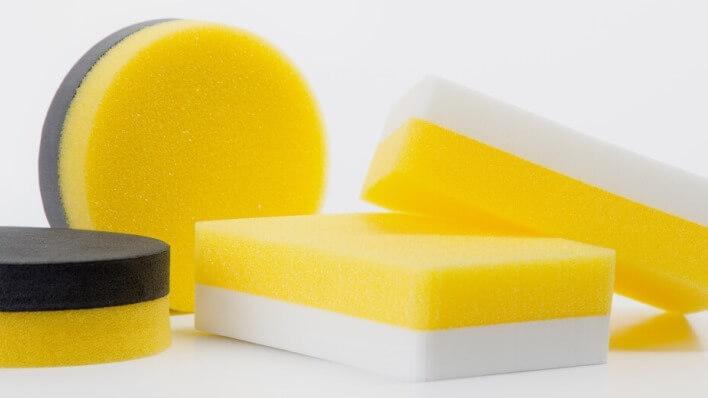 Application sponges are suitable to apply care products as well as for care