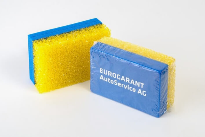 Insect sponges made of prepolymer for glass cleaning