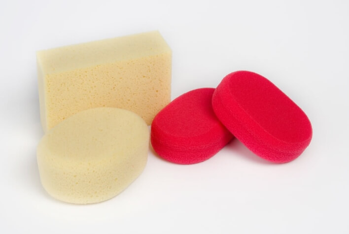 Hydro sponges for manual processing of green ceramic