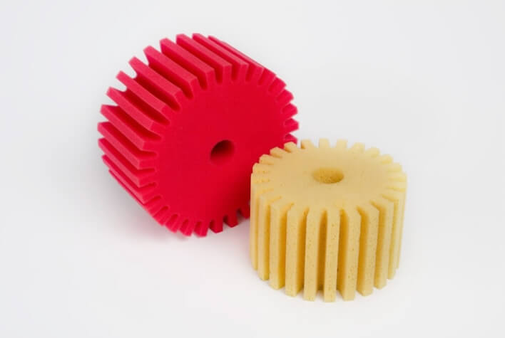 Machine sponges made of hydro foam for ceramics and porcelain