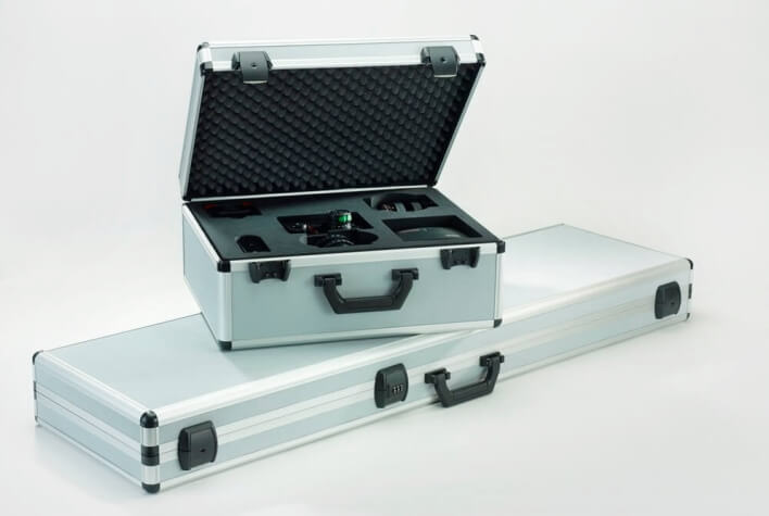 Case inserts made of PE foam for photo equipment